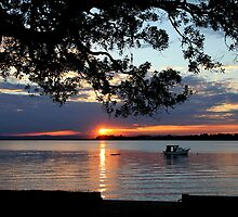 Sunset Boat - Bribie Island by peachblossom