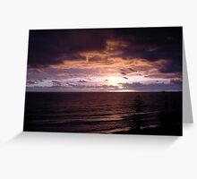 Sunrise - Alex Headlands, Sunshine Coast Greeting Card