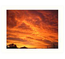 Complete Orange - Redcliffe Art Print