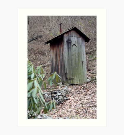 Cold Spring Rustic Outhouse Art Print