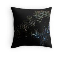 Moonlit Metal Throw Pillow