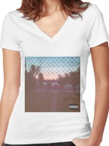 Pouya - South Side Slugs  Women's Fitted V-Neck T-Shirt