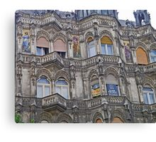 Painted Ladies building, Budapest, Hungary Canvas Print