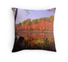 New England Autumn Foliage Throw Pillow