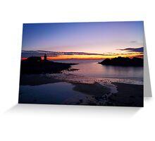 Sunset Portpatrick Harbour Greeting Card