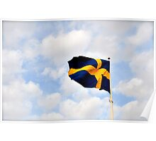 Swedish Flag Poster