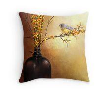 Autumn Warbler  Throw Pillow