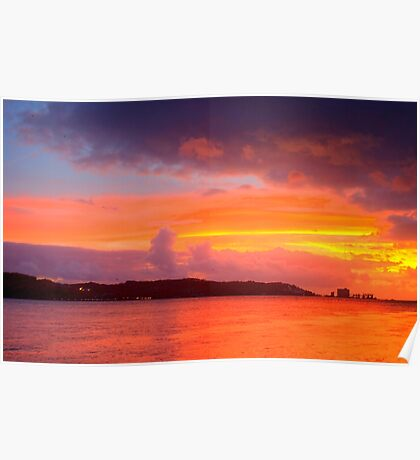 Lisbon sunset Poster