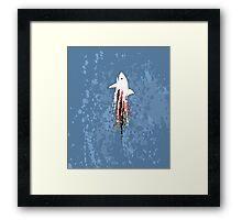 Shark Splatter Framed Print