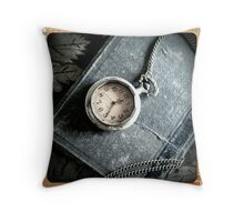 Old Book and Watch Throw Pillow