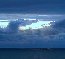 The March Sky Over Lake Michigan by BarbL