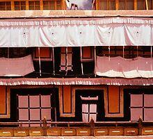 Potala Palace Rooftop Windows - Lhasa, Tibet by Anna Lisa Yoder