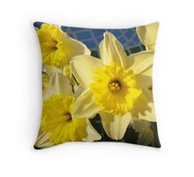 Spring Daffodil Flower Garden art prints Baslee Troutman Throw Pillow