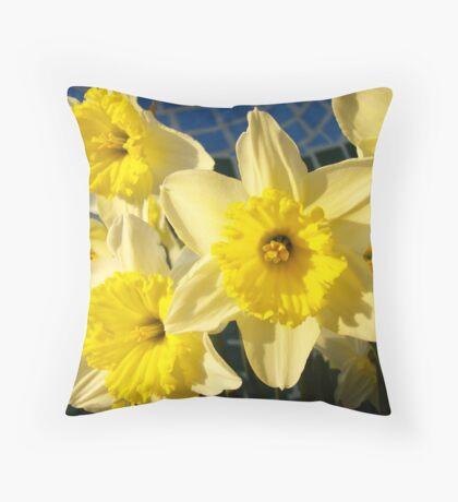 Spring Daffodil Flower Garden art prints Baslee Troutman Throw Pillow