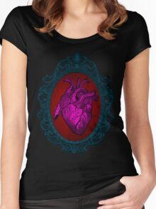 heart cameo Women's Fitted Scoop T-Shirt
