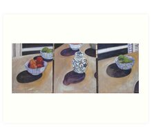 Ginger Jar and Fruit - Triptych Art Print
