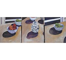 Ginger Jar and Fruit - Triptych Photographic Print