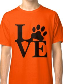 LOVE DOG PAW Classic T-Shirt