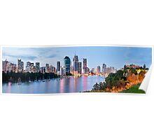 Brisbane City Panograph Poster