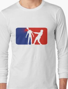 Zombie Down Baseball style Long Sleeve T-Shirt
