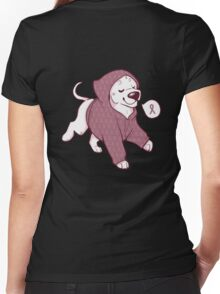 Breast Cancer Awareness Dog Women's Fitted V-Neck T-Shirt