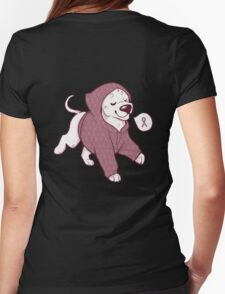 Breast Cancer Awareness Dog Womens Fitted T-Shirt