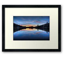 Subtle Sunset Framed Print