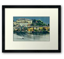 Lago di Orta Framed Print