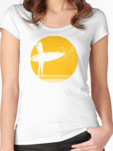 Surfer Girl II Women's Fitted Scoop T-Shirt