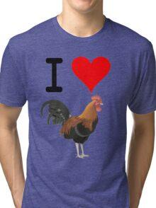 I Love Cock Tri-blend T-Shirt