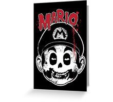 Mario Fiend Greeting Card