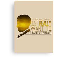 (I Want To) F. Scott Fitzgerald Canvas Print