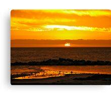Sunset Bar view Canvas Print