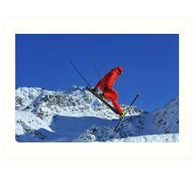ski jumper Art Print