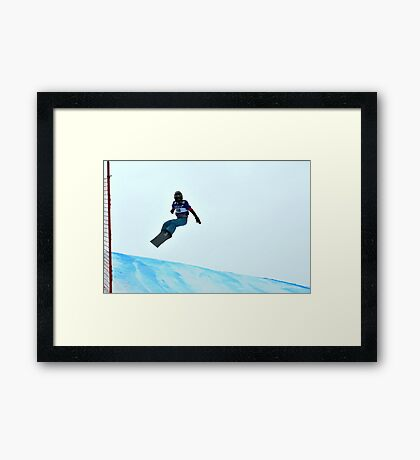 snowboard world cup Framed Print