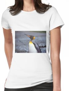 King Penguin Portrait Womens Fitted T-Shirt