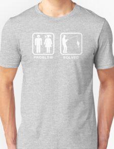 Fishing - Problem Solved Mens Funny T-Shirt