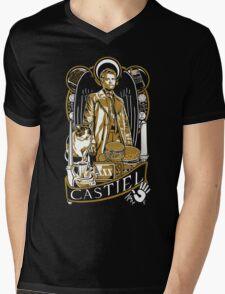Castiel Nouveau Mens V-Neck T-Shirt