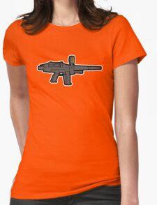 Gundam Beam Rifle Line Art Womens Fitted T-Shirt