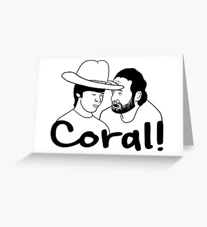 The Walking Dead- Coral Greeting Card