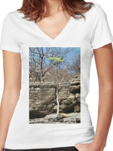 Struggling Tree, Namibia Women's Fitted V-Neck T-Shirt