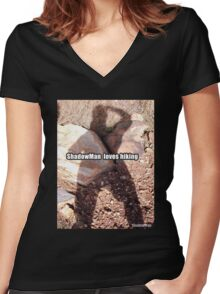 ShadowMan© Hiking Women's Fitted V-Neck T-Shirt