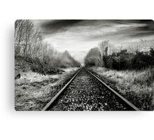 Abandoned Railway, Co Westmeath, Ireland Canvas Print