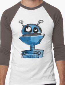 Blue Robot Men's Baseball ¾ T-Shirt