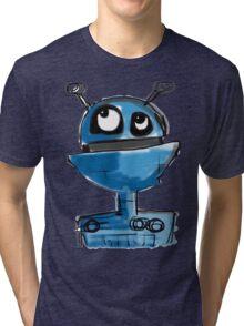 Blue Robot Tri-blend T-Shirt