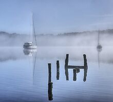 The Old Jetty On Windermere by Jamie  Green