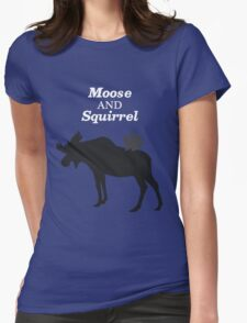 Supernatural Moose and Squirrel  Womens Fitted T-Shirt