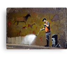 Council Worker by Banksy Canvas Print