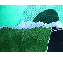 a strange new landform rises from a foaming green ocean Photographic Print