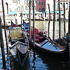Gondolas in Venice Italy by machka
